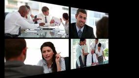 Collage van bedrijfsmensen stock footage