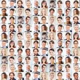 Collage van bedrijfsmensenportretten stock foto
