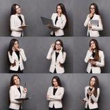 Collage van bedrijfsvrouwenemoties Royalty-vrije Stock Foto