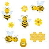 De collage van bijen Royalty-vrije Stock Afbeelding