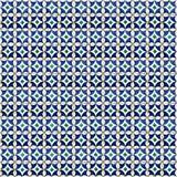 Collage van blauwe patroontegels in Portugal vector illustratie