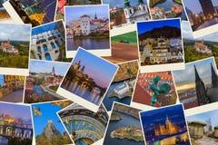 Collage van de beelden van de Tsjechische republiek mijn foto's Stock Foto
