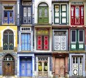 Collage van de deuren Goslar. Stock Foto's