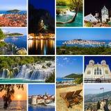 Collage van de reisbeelden van Kroatië Stock Afbeelding