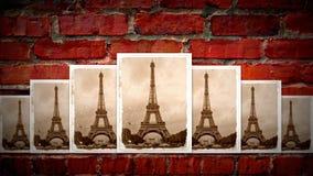 Collage van de toren van Eiffel Stock Afbeelding