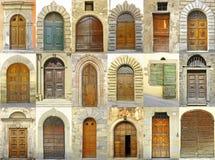 Collage van deuren, Italië royalty-vrije stock fotografie