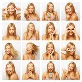 Collage van dezelfde vrouw royalty-vrije stock foto