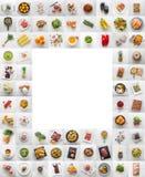 Collage van divers voedsel en ingrediënt Assotment plantaardige frui stock afbeelding