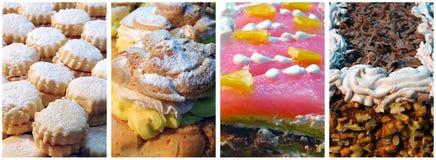 Collage van diverse cakes Stock Foto's