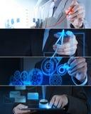 Collage van foto bedrijfsstrategie Royalty-vrije Stock Fotografie