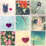 Collage van foto's met de telefoon worden genomen die Royalty-vrije Stock Foto's