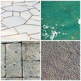 Collage van foto's met textuur Stock Afbeelding