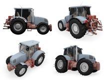 Collage van geïsoleerdel bouwvrachtwagen Royalty-vrije Stock Afbeelding