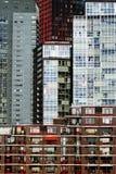 Collage van gebouwen in Rotterdam stock afbeeldingen