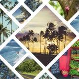 Collage van Hawaï & x28; De V.S. & x29; beelden - reisachtergrond & x28; mijn photos& x29; Royalty-vrije Stock Foto's