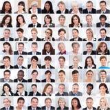 Collage van het bedrijfsmensen glimlachen Stock Foto's