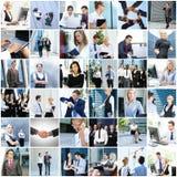 Collage van jonge bedrijfsmensen stock afbeeldingen