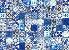 Collage van keramische tegels van Portugal vector illustratie