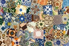 Collage van keramische tegels van Portugal royalty-vrije stock afbeeldingen
