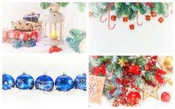 Collage van Kerstmisbeelden Vakantie en gebeurtenissen stock afbeelding
