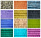 Collage van kleurrijke tegels Stock Afbeelding
