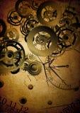 Collage van klokken op uitstekende achtergrond royalty-vrije illustratie
