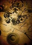 Collage van klokken op uitstekende achtergrond Royalty-vrije Stock Foto