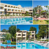 Collage van luxe toeristisch hotel Royalty-vrije Stock Foto