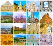 Collage van meningen van Florence, Italië royalty-vrije stock afbeeldingen