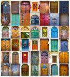 Collage van middeleeuwse voordeuren royalty-vrije stock foto