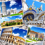 Collage van mooi Italië Stock Afbeeldingen