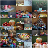 Collage van nog lifes door een vakantie Pasen Royalty-vrije Stock Fotografie