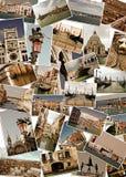 Collage van oriëntatiepunten in Venetië, Italië stock fotografie