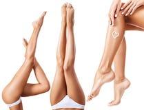 Collage van perfecte en gezonde vrouwelijke benen Royalty-vrije Stock Foto