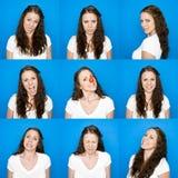 Collage van portretten royalty-vrije stock afbeeldingen