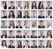 Collage van portretten van succesvolle jonge zakenlieden royalty-vrije stock afbeeldingen