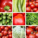 Collage van rode en groene groenten Royalty-vrije Stock Foto