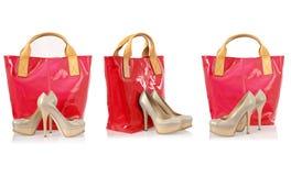 Collage van schoenen Stock Fotografie