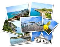 Collage van Sichang Eilanden, Chonburi, de prentbriefkaaren van Thailand Royalty-vrije Stock Afbeeldingen