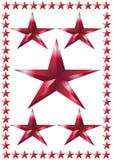 Collage van sterren Stock Afbeelding