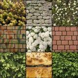 Collage van texturenmengeling Stock Fotografie