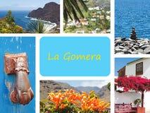 Collage van toneelmeningen van La Gomera Stock Afbeelding