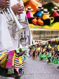Collage van traditionele de cultuurbeelden van Peru - reisachtergrond ( Stock Afbeelding