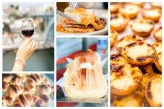 Collage van traditionele Portugese keuken Stock Afbeeldingen