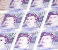Collage van Twintig (20) Bankbiljetten van Ponden royalty-vrije stock foto's