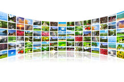 Collage van vele foto's Stock Foto