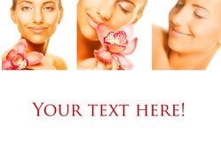 Collage van verscheidene foto's voor schoonheid Stock Afbeelding