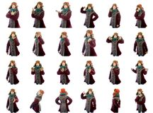 Collage van verschillende gelaatsuitdrukkingen Royalty-vrije Stock Afbeelding