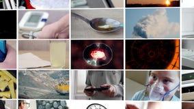 Collage van verschillende video's UltraHDlengte stock video