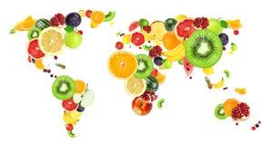 Collage van verse vruchten stock illustratie